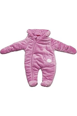 Long Sleeve - SALT AND PEPPER Baby Girls Hooded Long Sleeve Snowsuit - - 0-3 Months