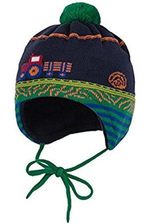 Hats - maximo Baby Boys' Mütze, Ausgenäht, Bindeband, Traktor Hat, Multicoloured-Mehrfarbig (Sattes Grün/Navy 2848)