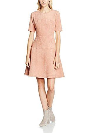 Women Dresses - Yumi Women's Suedette Panelled Skater Plain Short Sleeve Dress