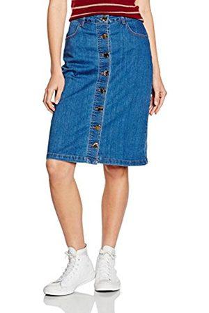 Women Denim Skirts - Yumi Women's Denim Button Down Skirt