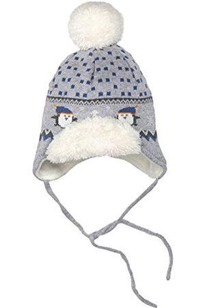 Hats - Sterntaler Baby Boys' Strickmütze Hat, -Grau (Silber Melange 542)
