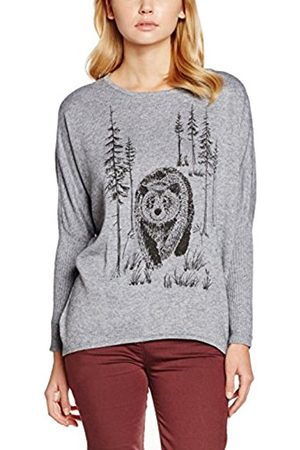 Women Long Sleeve - Yumi Women's Bear Print Animal Print Long Sleeve Jumper