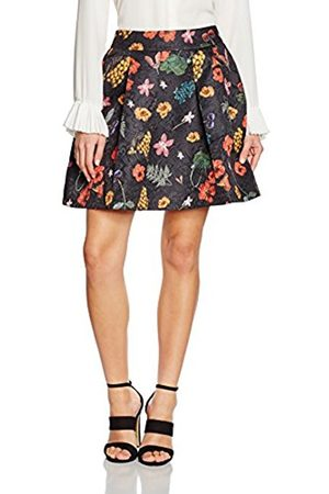 Women Skirts - Yumi Women's Botanical Jacquard A-Line Floral Skirt