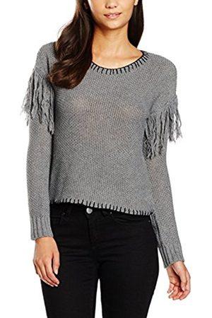 Women Sweatshirts - Minkpink Women's Miles Apart Fringe Sweater Plain Long Sleeve Sweatshirt