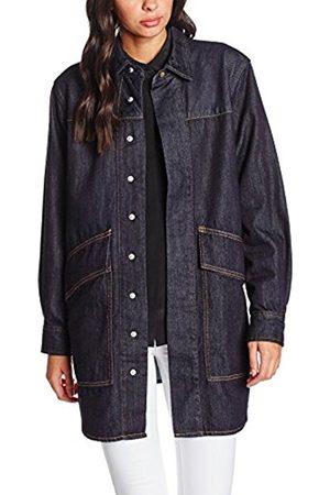 Women Long sleeves - House of Holland Women's Lee Oversized Denim Loose Fit Long Sleeve Shirt