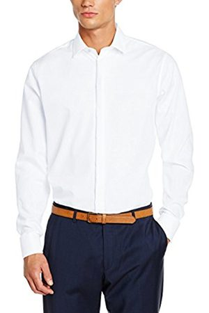 Men Business - Men's Modern Kent Party Business Shirt, -Weiß (Weiß 01)