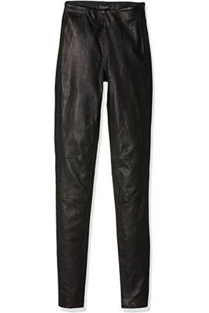 Women Leather Trousers - Selected FEMME Women's SFSYLVIA MW STRETCH LEATHER LEGGIN NOOS Trouser