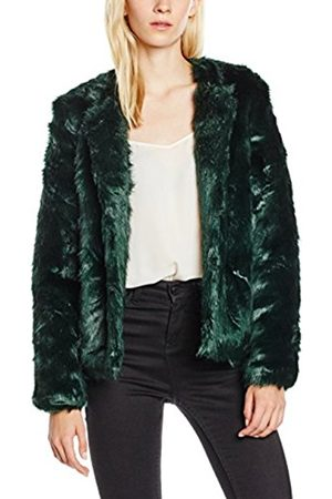 Women Jackets - Yumi Women's Collarless Faux Fur Jacket