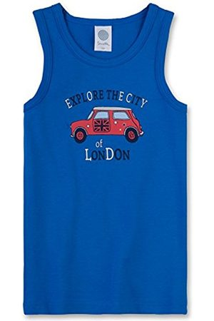 Boys Vests & T-shirts - Sanetta Boy's 333476 Vest, -Blau (Strong 50022)