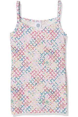 Girls Vests & T-shirts - Sanetta Girl's 344514 Vest, Multicoloured-Mehrfarbig (Caribbean Sea 5650)