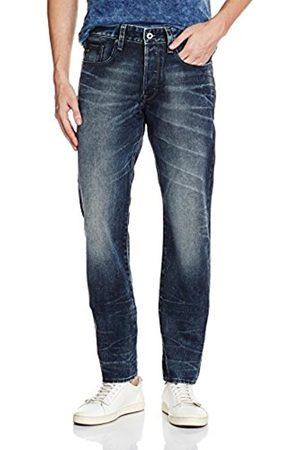 Men Tapered - G-Star Men's 3301 Tapered Jeans - (Light Aged 6997), Blau (Dk Aged 89)