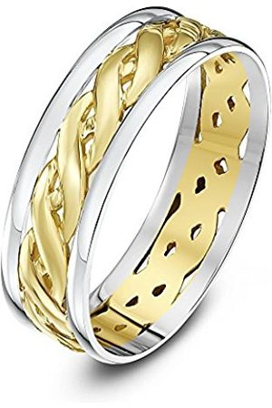 Rings - THEIA Unisex Highly Polished Court Shape Celtic 6 mm 9 ct and Gold Wedding Ring - Size Y