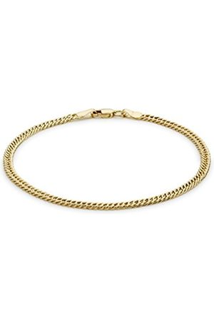 Women Bracelets - Carissima Gold 9ct Gold Oval Double Curb Bracelet of 18cm/7""