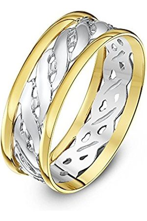 Rings - THEIA Unisex Highly Polished Court Shape Celtic 7 mm 9 ct and Gold Wedding Ring - Size Q