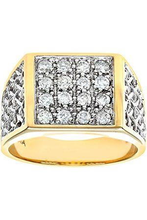 Women Rings - Naava 9 ct Yellow Diamond Men's Cluster
