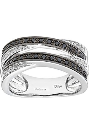 Naava Women's Diamond Ring9 ct Pave set with and Diamonds In Crossover StyleSize:M