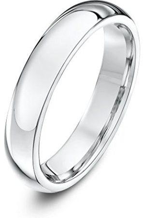 Rings - THEIA Unisex Super Heavy Court Shape Polished 9 ct Gold 4 mm Wedding Ring - Size I