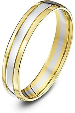 Rings - THEIA Unisex Court Shape 9 ct and Gold Wedding Ring - Size U