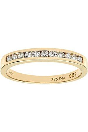 Women Rings - Naava 9 ct Yellow Diamond Channel Set Eternity Women's Ring