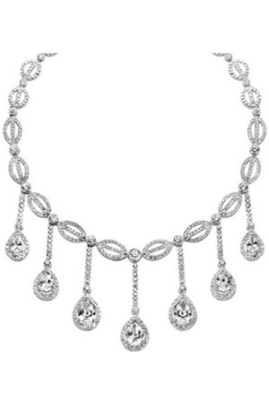 Women Necklaces - ORPHELIA Women's Necklace 925 / ooo Sterling with Teardrop-Shaped Pendant 44 CM Cubic Zirconia
