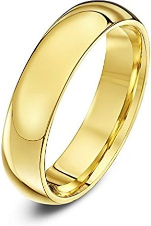 Rings - THEIA Unisex Super Heavy Court Shape Polished 9 ct Gold 5 mm Wedding Ring - Size Q