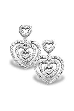 Women Earrings - ORPHELIA Alvina-EAR - 1218-Earrings 925/1000-7.9 g with Cubic Zirconia