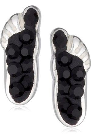 Girls Earrings - Carbon Foot Print Black Sparkley Stud Earrings