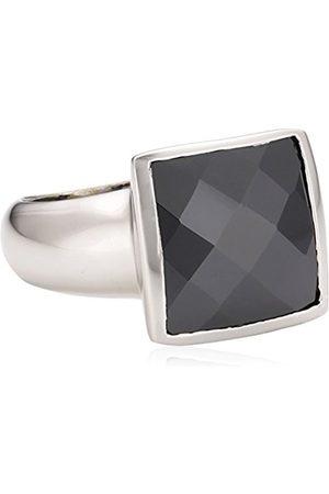Women Rings - Zeeme SilverLadies'RingwithBlackCubicZirconiaEUSize54mm342270022-054