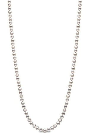 Necklaces - 9 ct 5.5 mm White Semi Round Cultured Freshwater Pearl Necklace of 24-inch