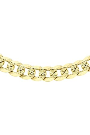 """Women Necklaces - Carissima Gold 9ct Diamond Cut Flat Curb Chain of 51cm/20"""""""
