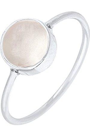 Women Rings - Women 925 Sterling Silver Moonstone Ring - Size M 06400013