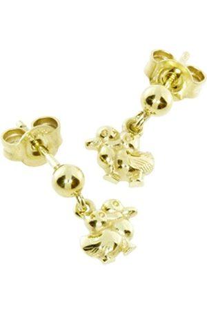 Women Earrings - InCollections Women 8 k (333) Yellow Earrings