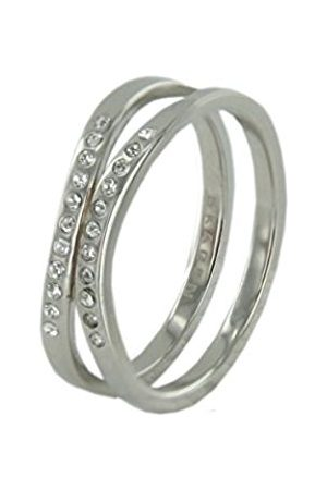 Women Rings - Skagen DesignsUKCharlotteRangeRingStainlessSteelWithSwarovskiElementsJRSS027S8-SizeP