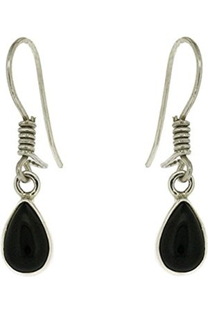 Nova Silver Bemine Small Tear Onyx Earrings