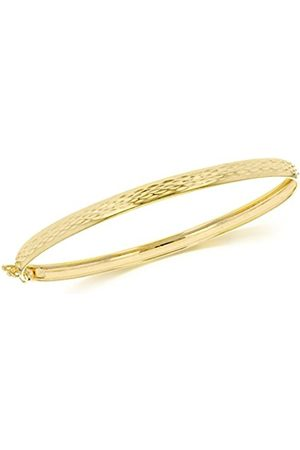 Women Bracelets - Carissima Gold 9ct Gold Diamond Cut Bangle