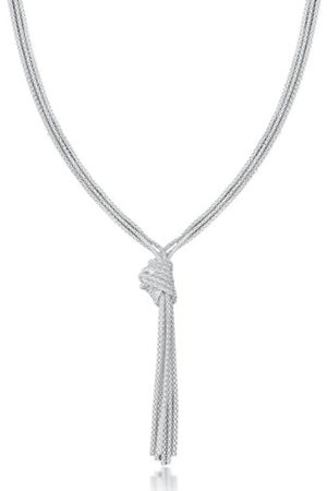 """Tuscany Silver Sterling Knotted Popcorn Necklace of 46cm/18"""""""