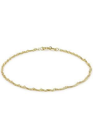 Women Bracelets - Carissima Gold 9ct Twist Curb Bracelet of 18cm/7""