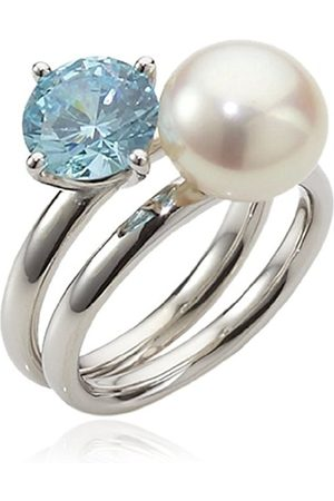 Women Rings - Women's Ring with Freshwater Cultured Pearl seaside 925 Sterling Silver Rainbow RAR-D
