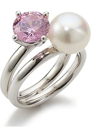 Women Rings - Women's Ring with Freshwater Cultured Pearl watermelon 925 Sterling Silver Rainbow RAR-P