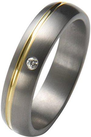 Trauringe Liebe hoch zwei Liebe Women's Promise Ring Titanium with Inserts 1 x Diamond 0.02 ctSize: 50 (15.9) 05050811811250