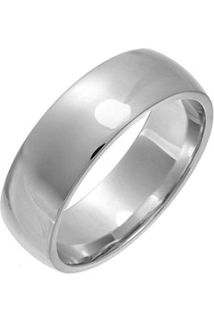Women Rings - THEIA Unisex Super Heavy 7 mm Court Shape Wedding Ring - O