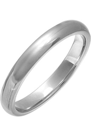 Rings - THEIA Super Heavy - Court shape - Highly Polished 3mm Wedding Ring - Size K