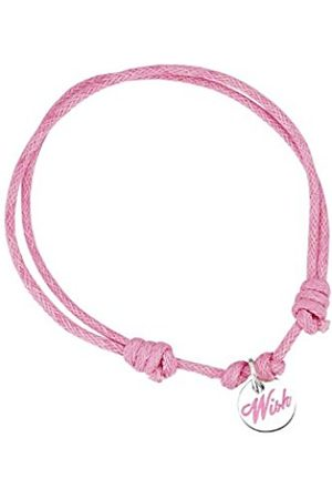 Girls Bracelets - Cord Charm Bracelet - Wish Disc Charm - Adjustable (14 to 27cm)