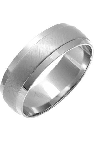 Women Rings - THEIA Heavy D shape - Highly Polished Matt Centre 1mm Wedding Ring - Size U