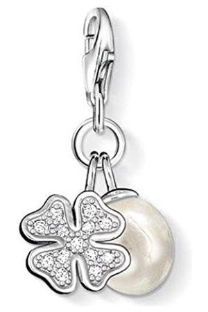 Thomas Sabo Women-Charm Pendant Cloverleaf Charm Club 925 Sterling Silver 0884-001-12 tDFFiVRyf