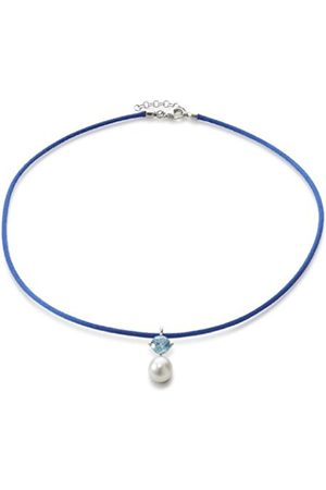 Women Necklaces - RAK-D High Lustre White 9.0 mm Teardrop Freshwater Pearl and Cubic Zirconia Sterling Silver 925 Chain Certificate of Authenticity