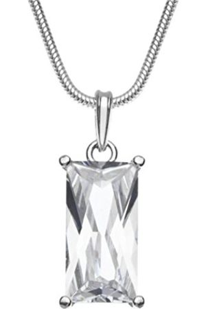 Women Necklaces - InCollections Women's Pendant 925 / 000 Sterling with Zirconia including Snake Chain Necklace 1.6 / 42 CM 241A201693340