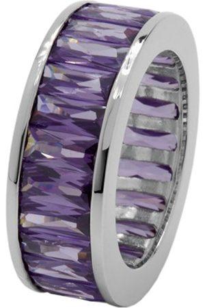 Women Rings - Women's Ring 925 Sterling Silver Rhodium-Plated Cubic Zirconia Baguette jcm 104–121 17mm