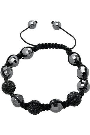 Women Bracelets - Women's Bracelet Shamballa Black L Adjustable Assorted Stones on Black Fabric Band JCM1145 592