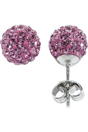 Women Earrings - Women's Stud Earrings Rhodium-Plated 925 Sterling Silver